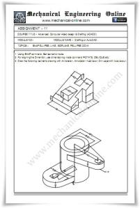 Autocad Assignment Drawings 11